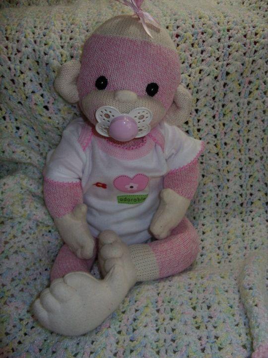 Pdf Pattern Baby Sock Monkey Monkey Socks And Pdf