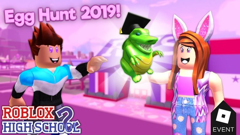 Egg Hunt 2019 Has Arrived To Roblox High School 2 Roblox - game roblox fanclub