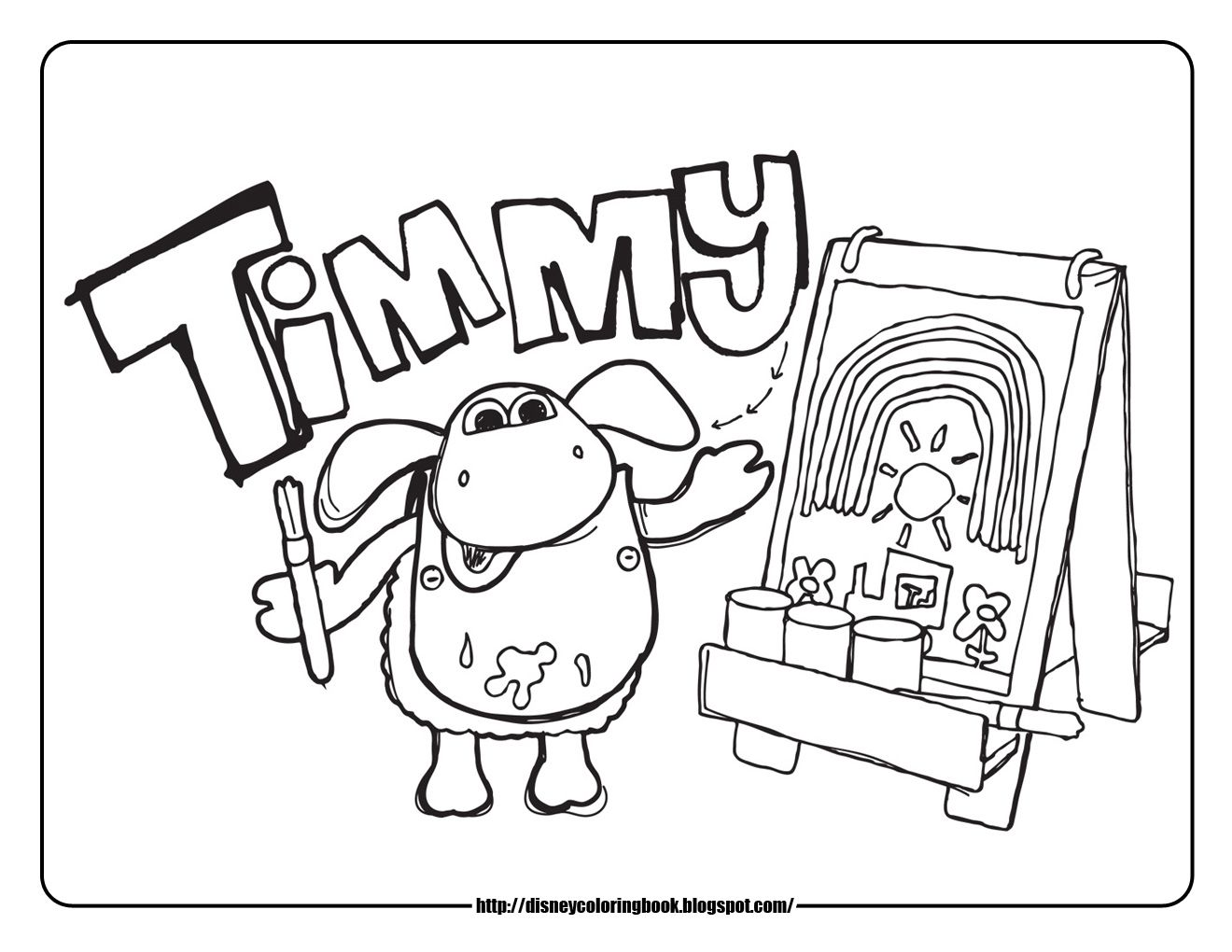 Disney Coloring Pages and Sheets for Kids: Timmy Time 1: Free Disney ...