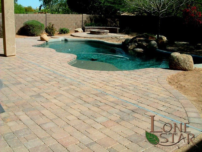 Texture Photo Gallery Lone Star Landscaping Hardscape Paver Deck Paver Designs