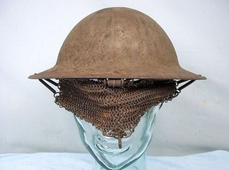 WW1 Mark I second pattern cruise mail visor, Brodie helmet ...