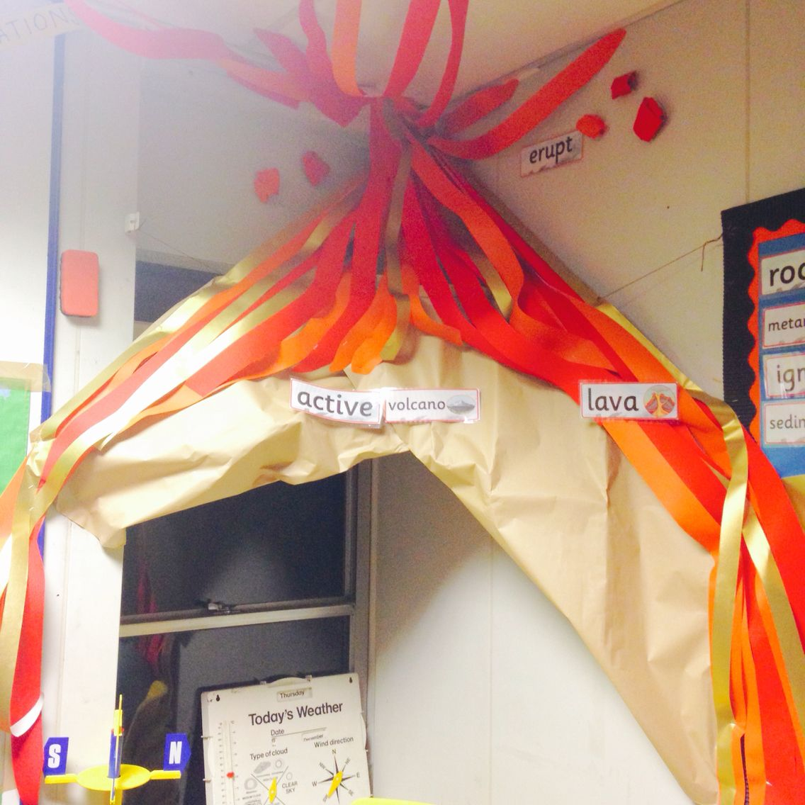 Volcano Role Play Area In Year 4