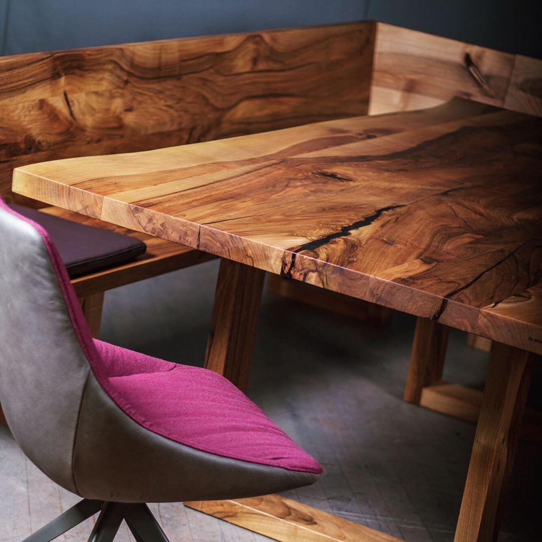 Wilder Nussholz Tisch Aus Deutschem Wald Tisch Holz Esstisch