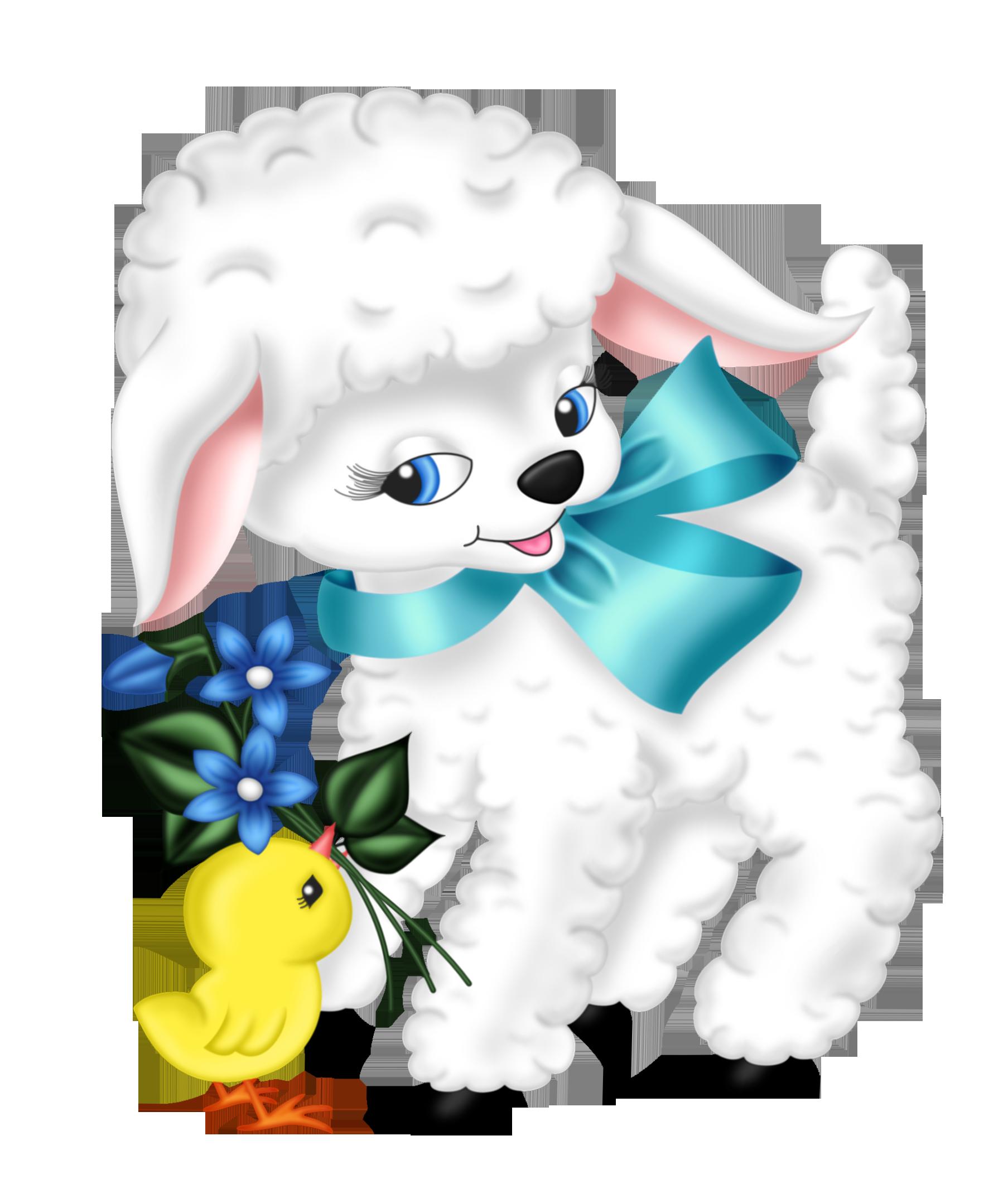 Lamb Páscoa Transparente e frango PNG Clip Imagem
