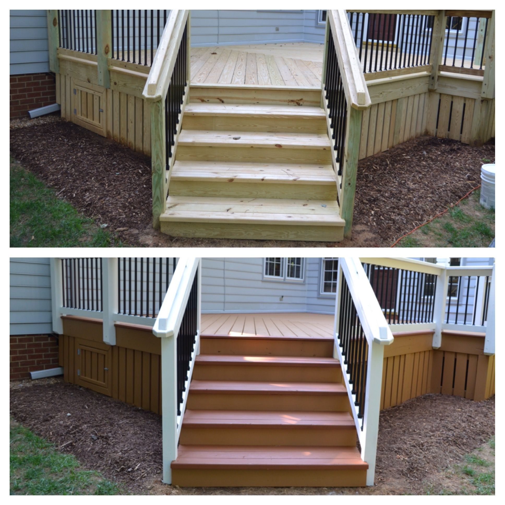 Envirowash stained and sealed this new deck with three