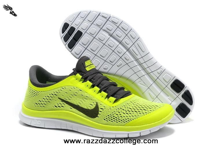 Buy Mens Volt Dark Grey White Shoes Nike Free 3.0 V5 Men's 580393-701 For