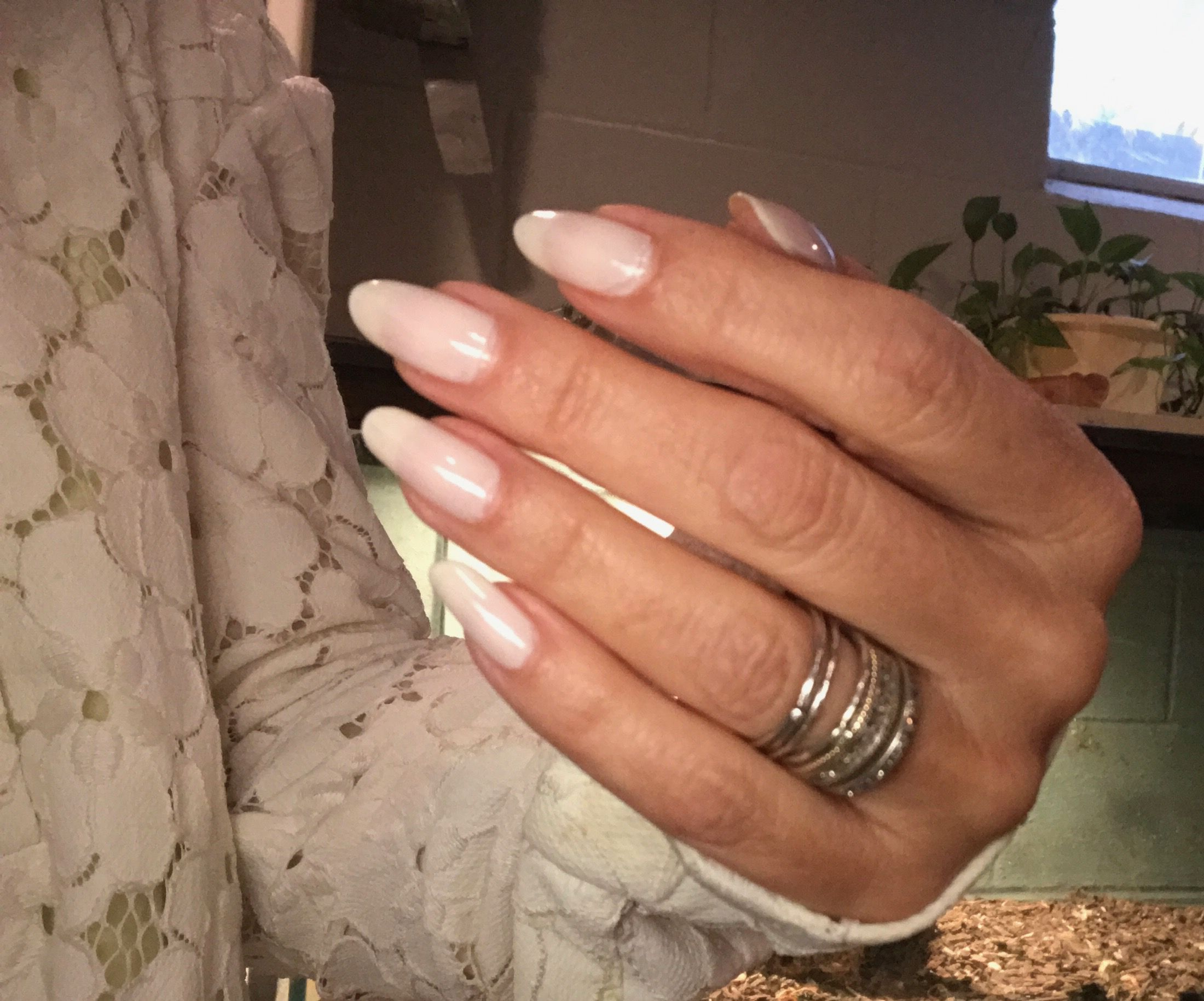 Long oval nails at life on mars beauty | Cynthia\'s Nail and Lip ...