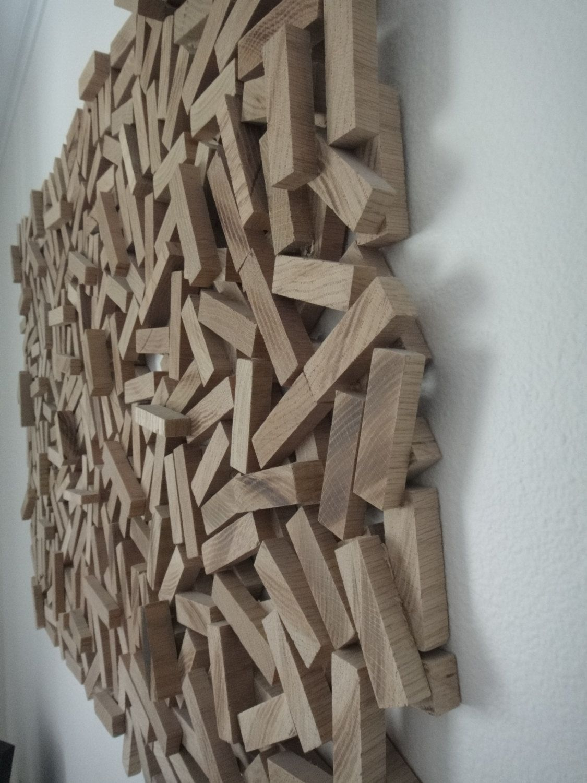 Abstract wood sculpture wall hanging wood wall art