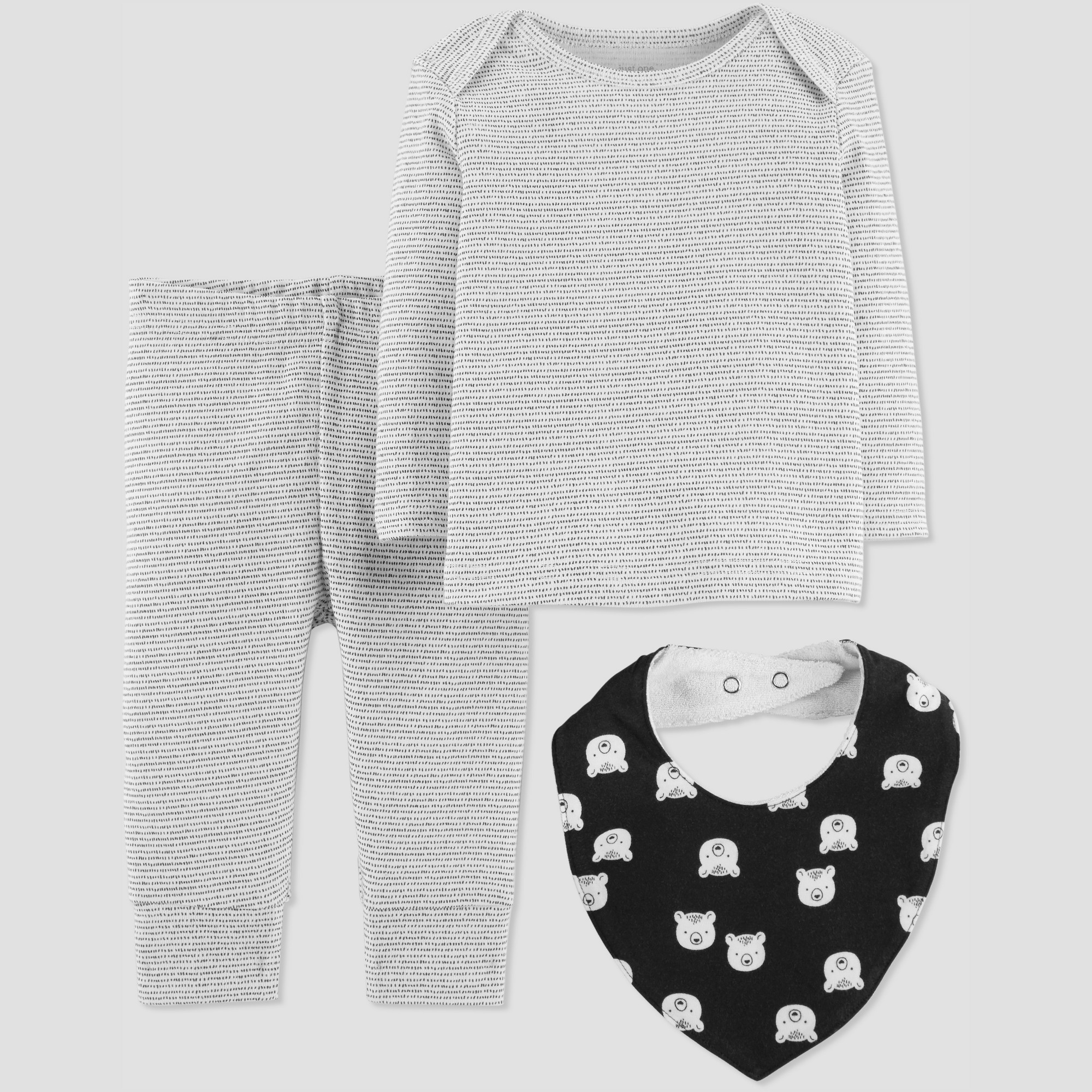 69dd2fc49 Baby Boys  3pc Stripe Set with Bib - Just One You made by carter s ...