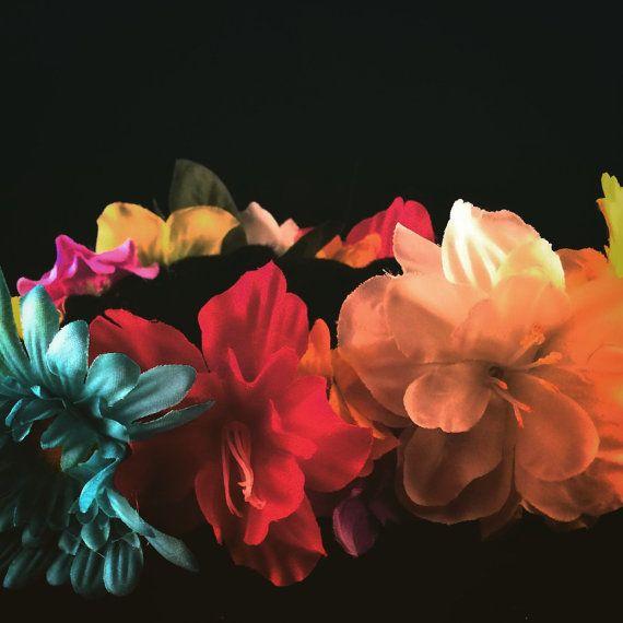 Garden fairy flower crown flower child flower by enchantedheadwear