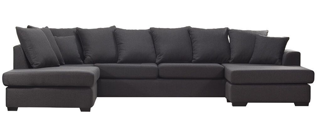 Best Norfolk Designer Anthracite Grey Corner Sofa Canapé 400 x 300