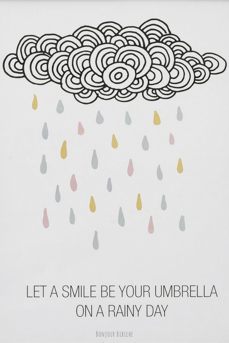 Let A Smile Be Your Umbrella On A Rainy Day Qotd Citation