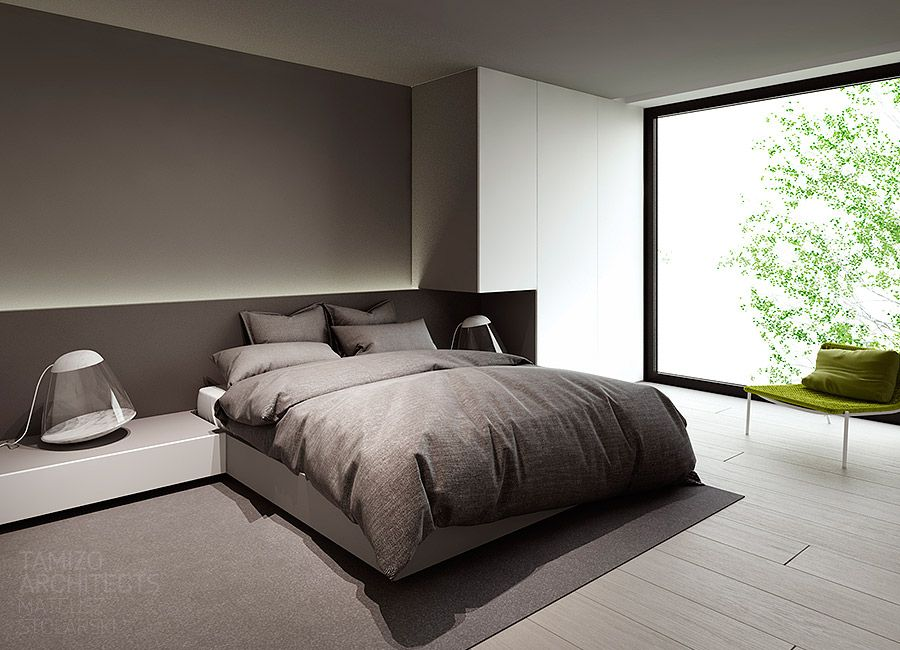 Single family house interior design, Pabianice.  Rest  Pinterest  침실, 안방 ...