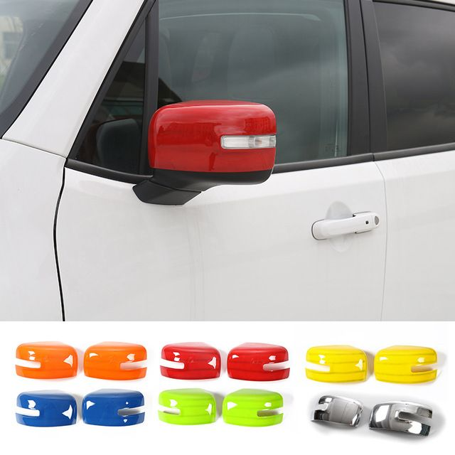 Mopai Car Rearview Mirror Decoration Cover Stickers For Jeep