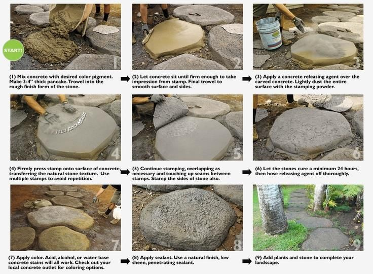 Diy stepping stones concrete stepping stones stepping