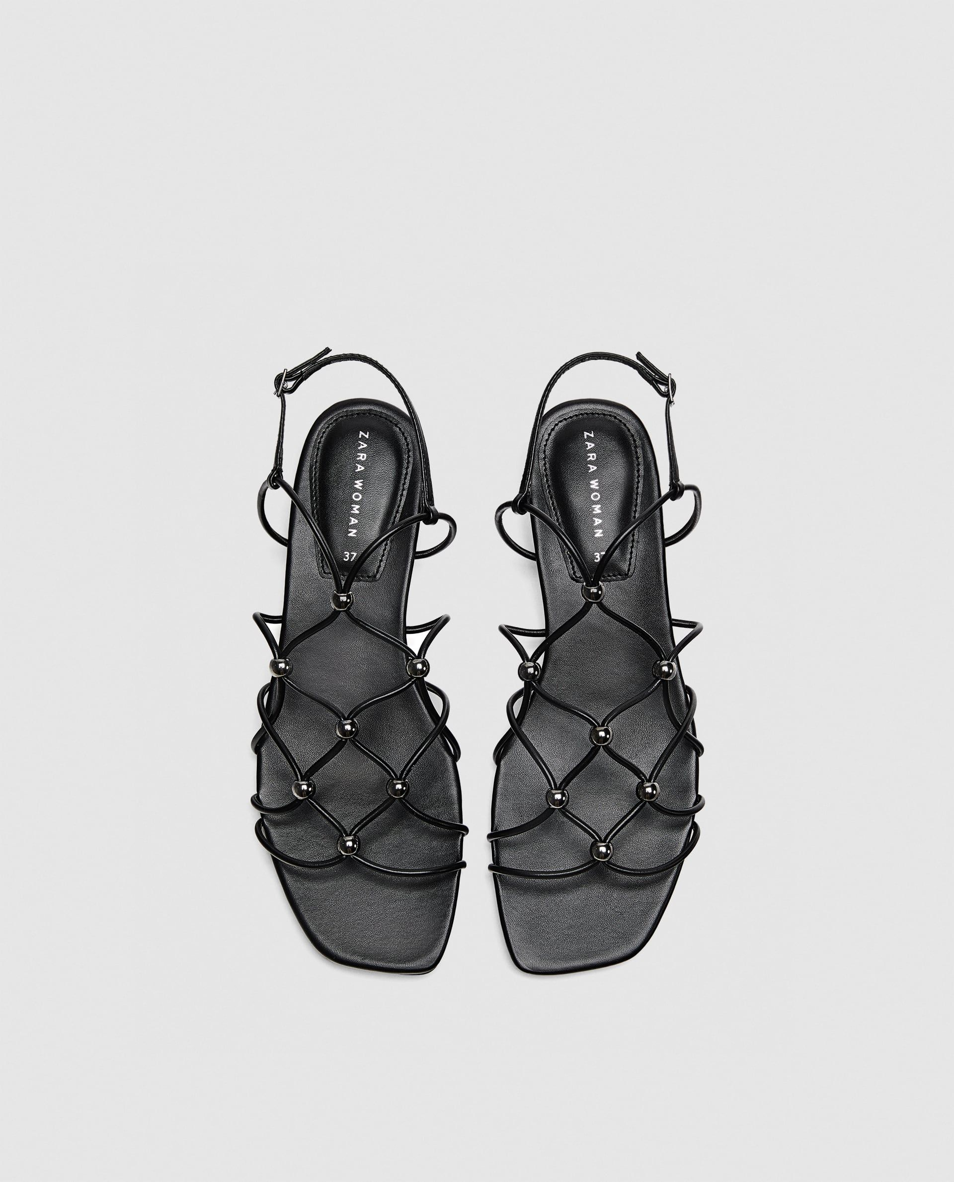 f66bdfd6a17c Image 3 of STRAPPY SANDALS WITH METAL DETAILS from Zara