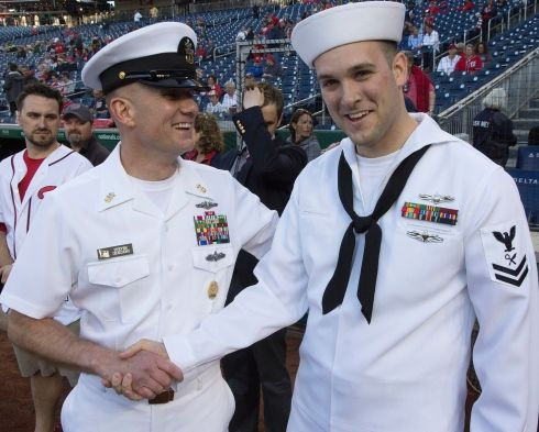 Washington Nationals Welcome Sailors With Us Navy Day Events Navy Day Navy Sailor Us Navy