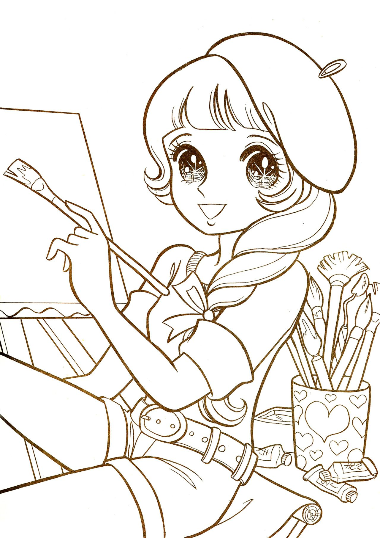 Aeromachia Shojo Manga No Memory This Is Few Coloring Pages From This Vintage Coloring Book Manga Coloring Book Vintage Coloring Books Cute Coloring Pages