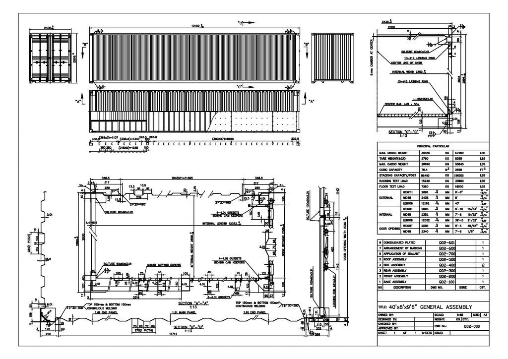 Technical Drawing Of 40ft High Cube Shipping Container Container Dimensions Shipping Container Dimensions Shipping Container