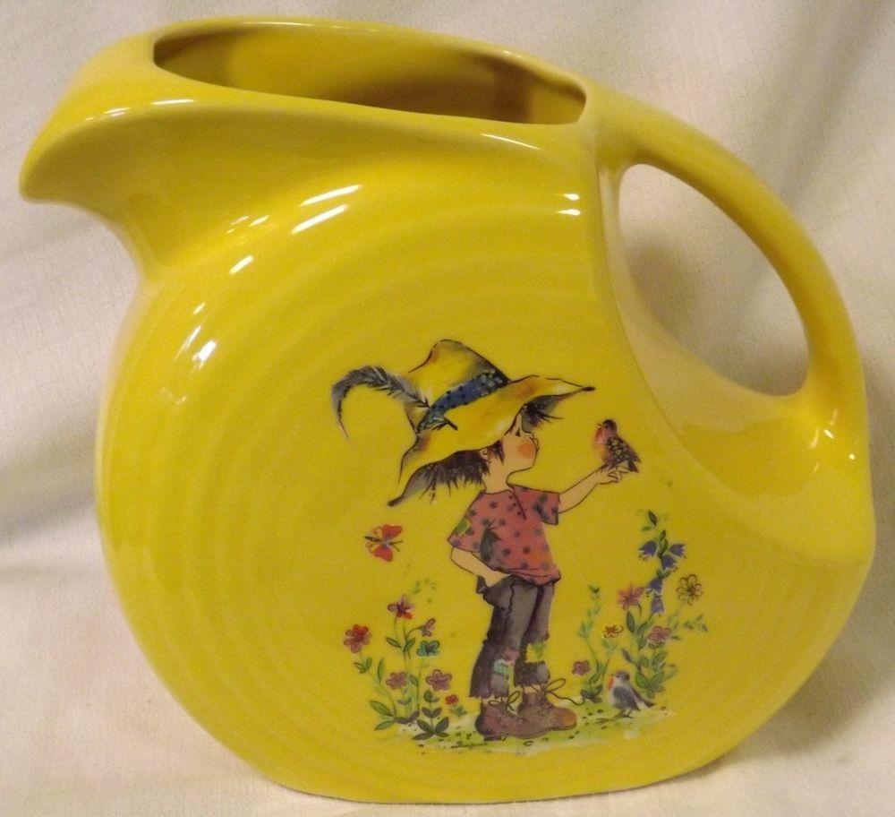 Sunflower yellow fiesta fiestaware disc pitcher w holly hobby sunflower yellow fiesta fiestaware disc pitcher w holly hobby style little boy reviewsmspy