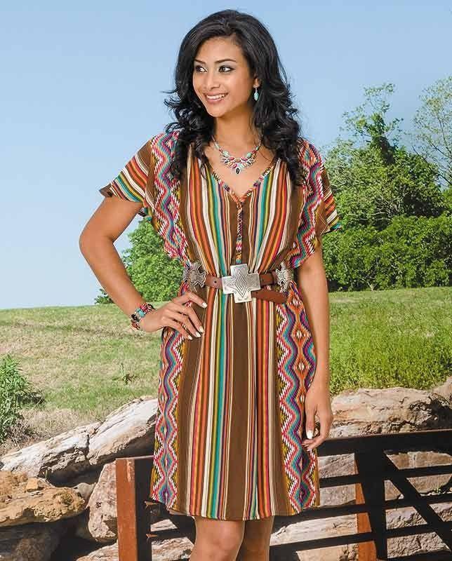 72eec0bec73 Stetson Multi Aztec Serape Print Chiffon Dress  aztecprint   SouthwesternStyle  WesternFashion  WesternStyle  CowgirlChic  WesternChic
