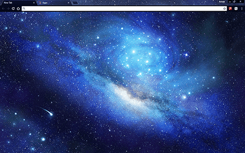 Stars In Outer Space Google Chrome Theme Google Themes Chrome