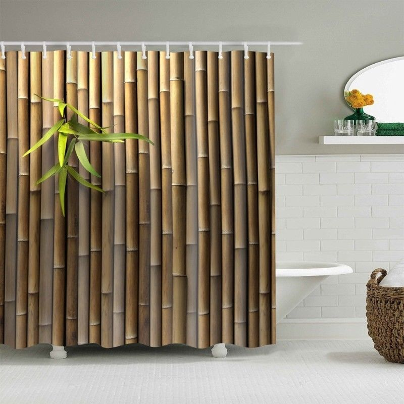 17 96 Aud Bamboo Shower Curtain Waterproof Bath Curtain For