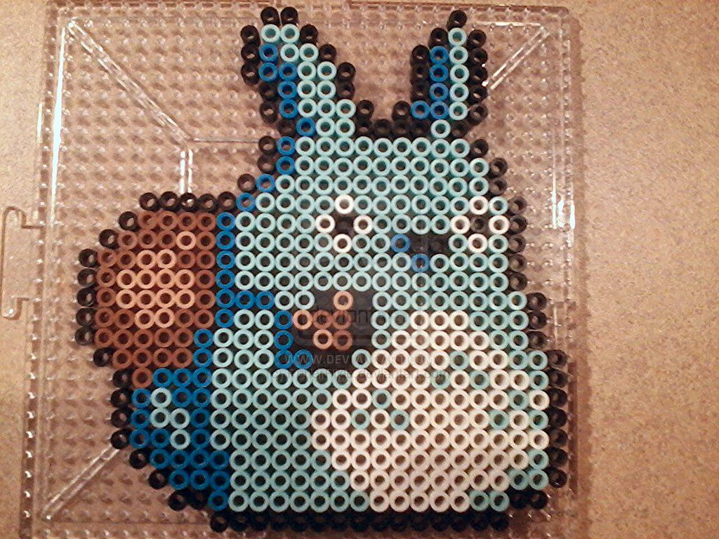 Blue Totoro perler beads by PerlerPixie on deviantART   perlers ...