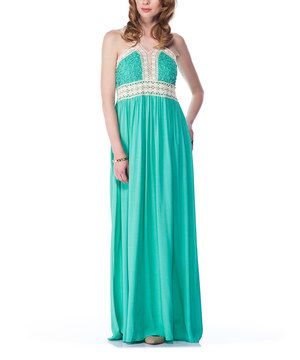 Look what I found on #zulily! Mint Lace Maxi Dress by ONE DAY #zulilyfinds
