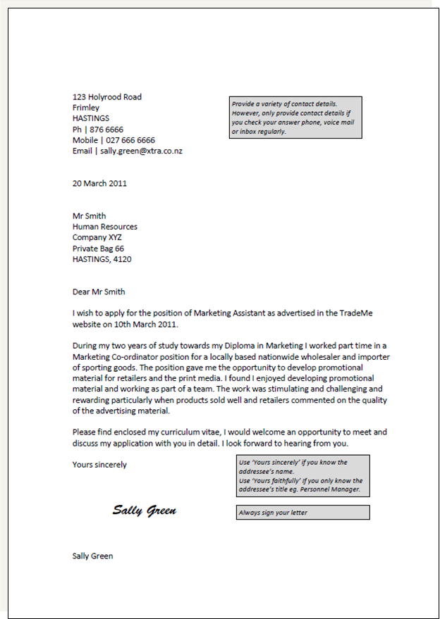 Cover Letter Template Nz Employment cover letter, Cover