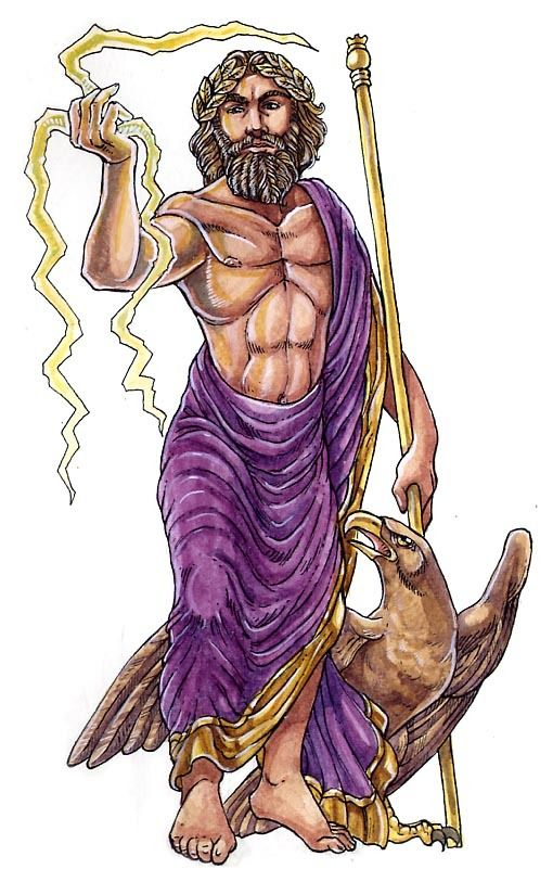 An Animated Version Of Jupiter With His Thunderbolt His Eagle And Also His Cane Roman Gods By Sara Otterstae Roman Gods Greek And Roman Mythology Roman God
