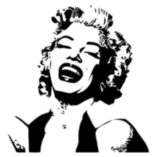 marilyn monroe silhouette style 1 vinyl wall art decal 23