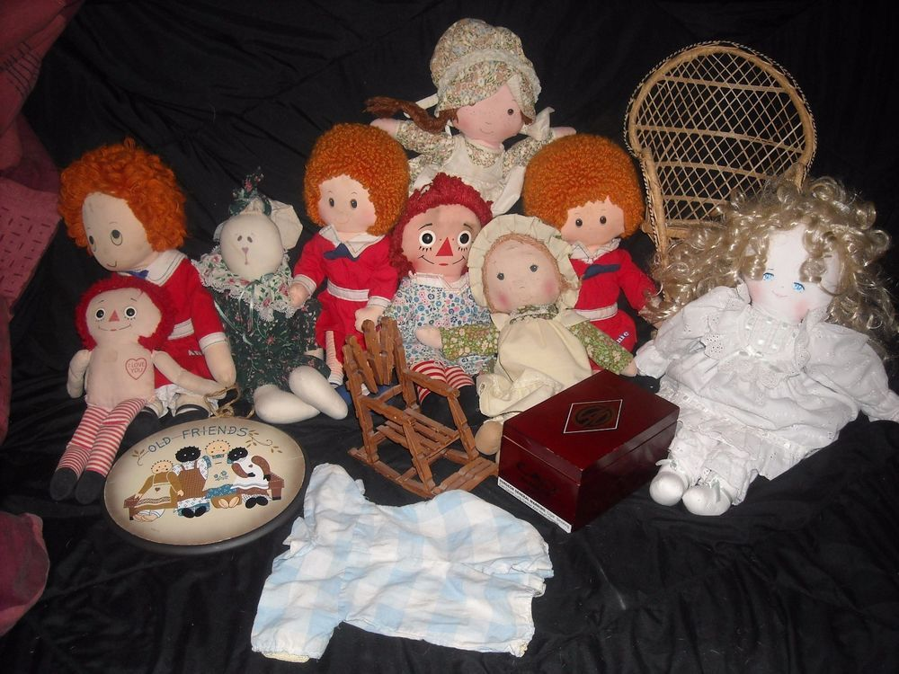SALE LOT doll cloth raggedy  for sale in my