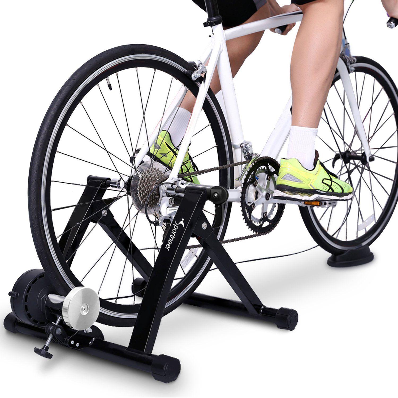 Amazon Com Bike Trainer Stand Sportneer Steel Bicycle Exercise