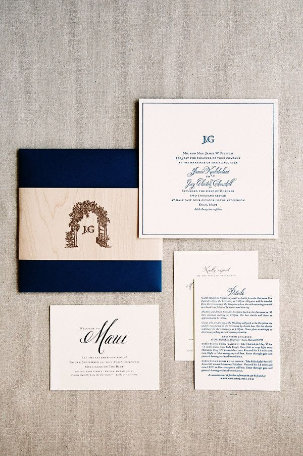 Backyard Maui Wedding by Bradley & Lily Fine Stationery | Pinterest ...