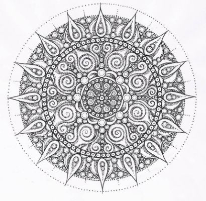 mandala tattoo kleurplaten
