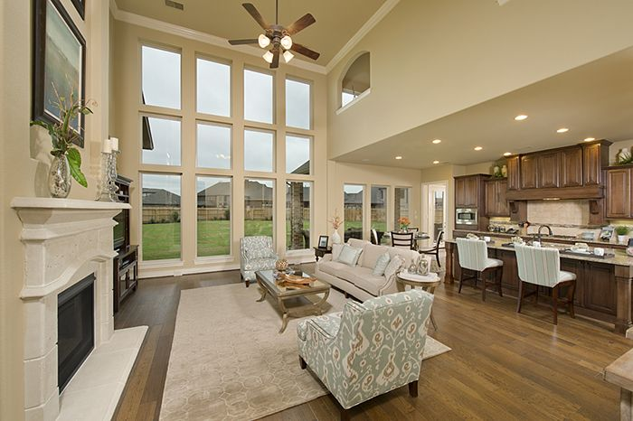 Perry Homes Pine Mill Ranch Model Home Design 4930w In Katy Tx Living Spaces Pinterest