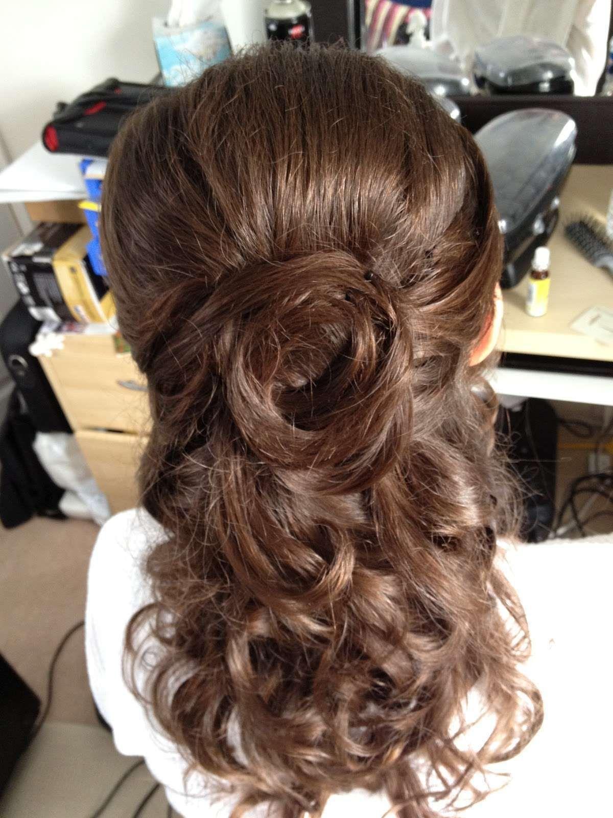 Half up down wedding hairstyles wedding hair styles pinterest