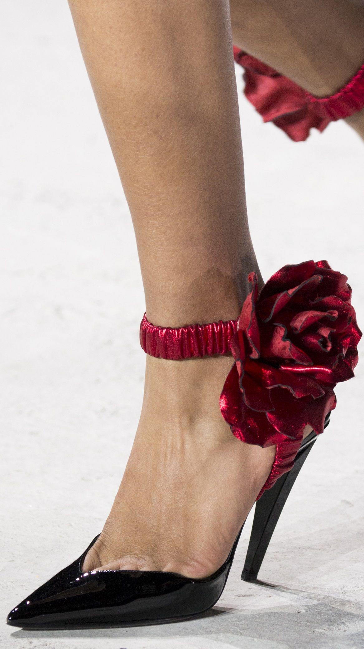 Great toe cleavage!  Saint Laurent FW 2017