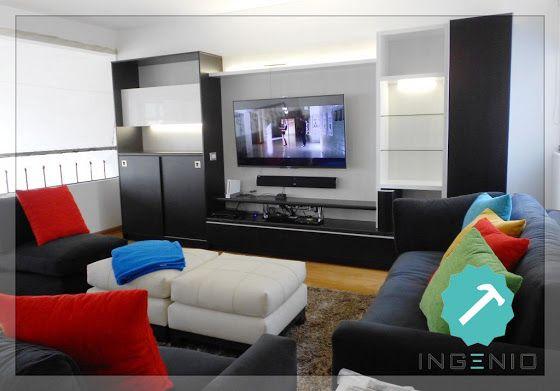 Mueble Sala TV. | Decoración hogar | Pinterest | Muebles sala, Tv y ...