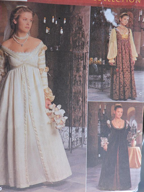 Cap & Gown Veil Dress Fair Adult Costume Historic Gothic Renaissance ...