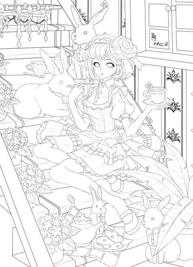 Pin by Minhh Ngọc on Anime-manga | Pinterest | Coloring books, Adult ...