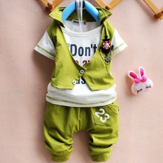 4 set /lot 2013 Promotion Summer Children Kids Clothing Boys Sports Suits Short Sleeve HOT Sale AA5343