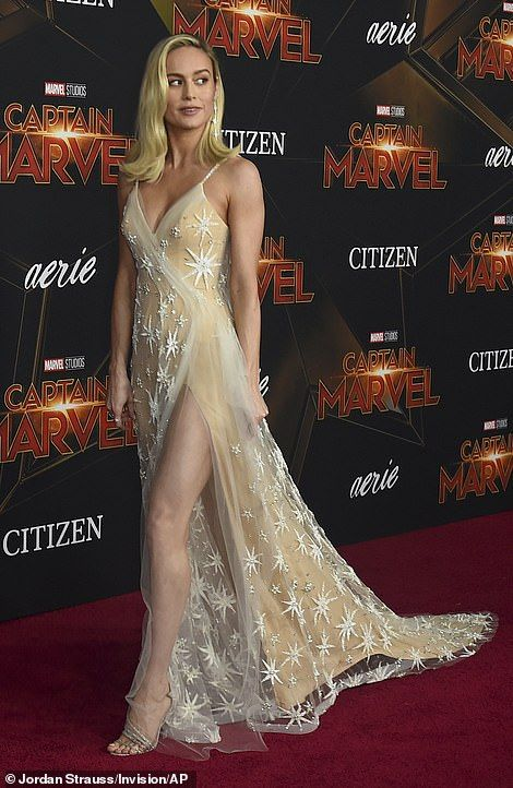 Brie Larson sparkles in jaw-dropping gown at Capta