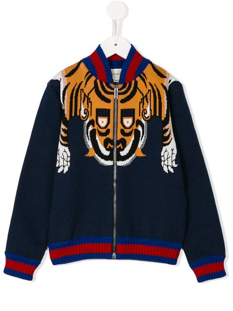61a3dccb Shop Gucci Kids tiger knit jacket . | kids wears | Gucci kids ...