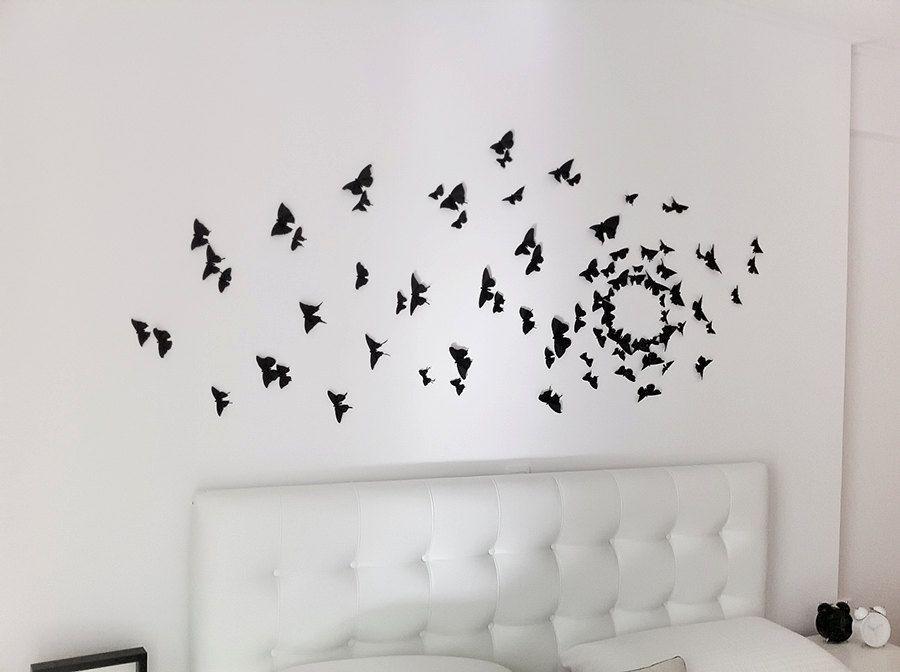Black 3d Butterfly Wall Art Butterfly Wall Art 3d Butterfly
