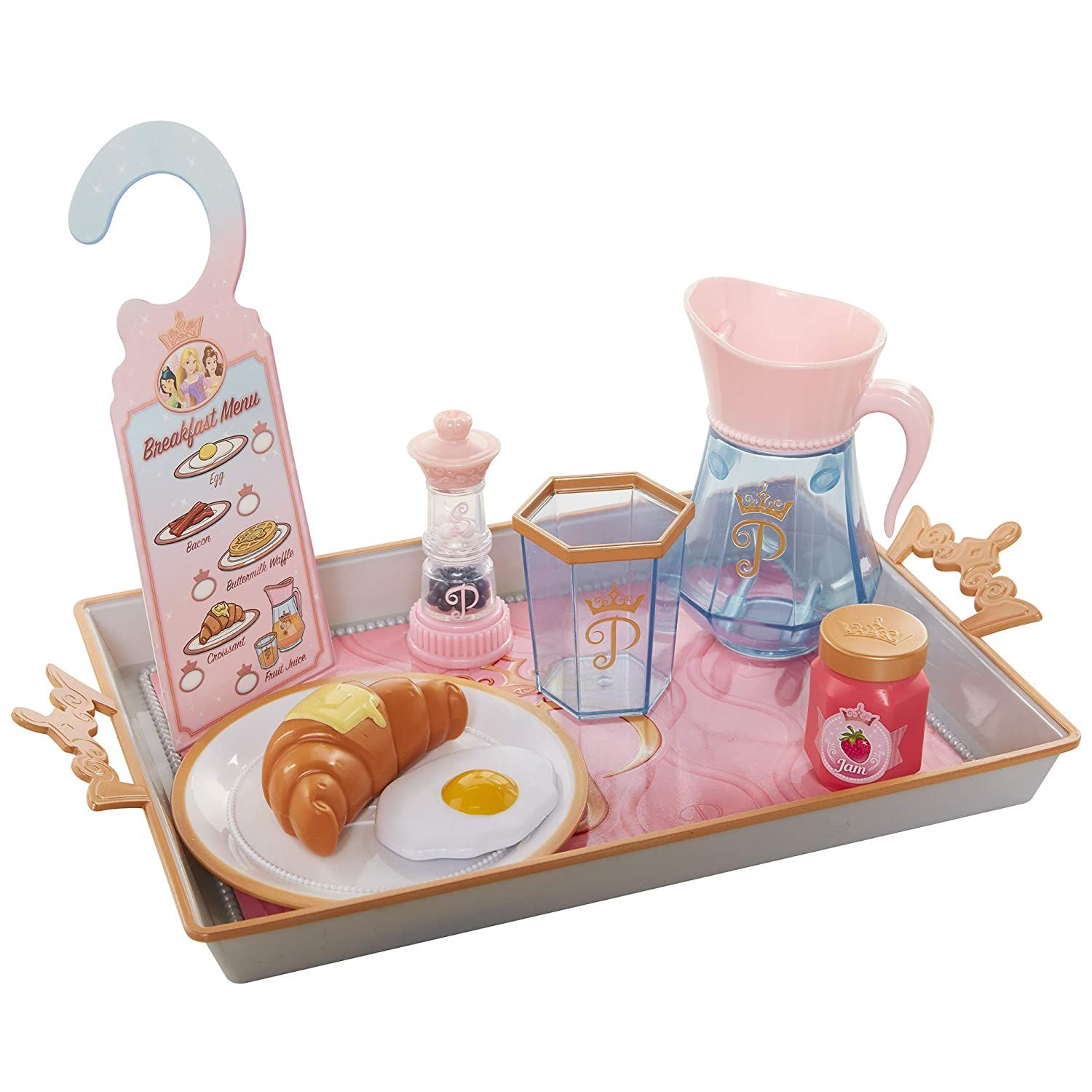 Disney Princess Style Collection Room Service Breakfast Food Kitchen Pretend Play Toys For Kids Includes Serving Tr Disney Princess Toys Princess Toys Toy Sets