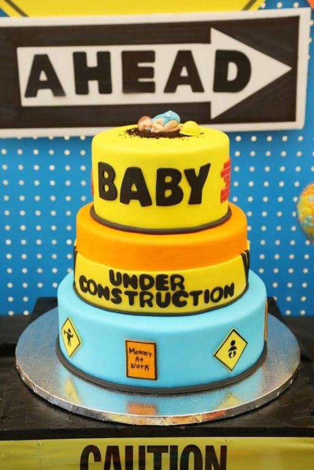 Under Construction Baby Shower Cake Graduation Fiesta Baby