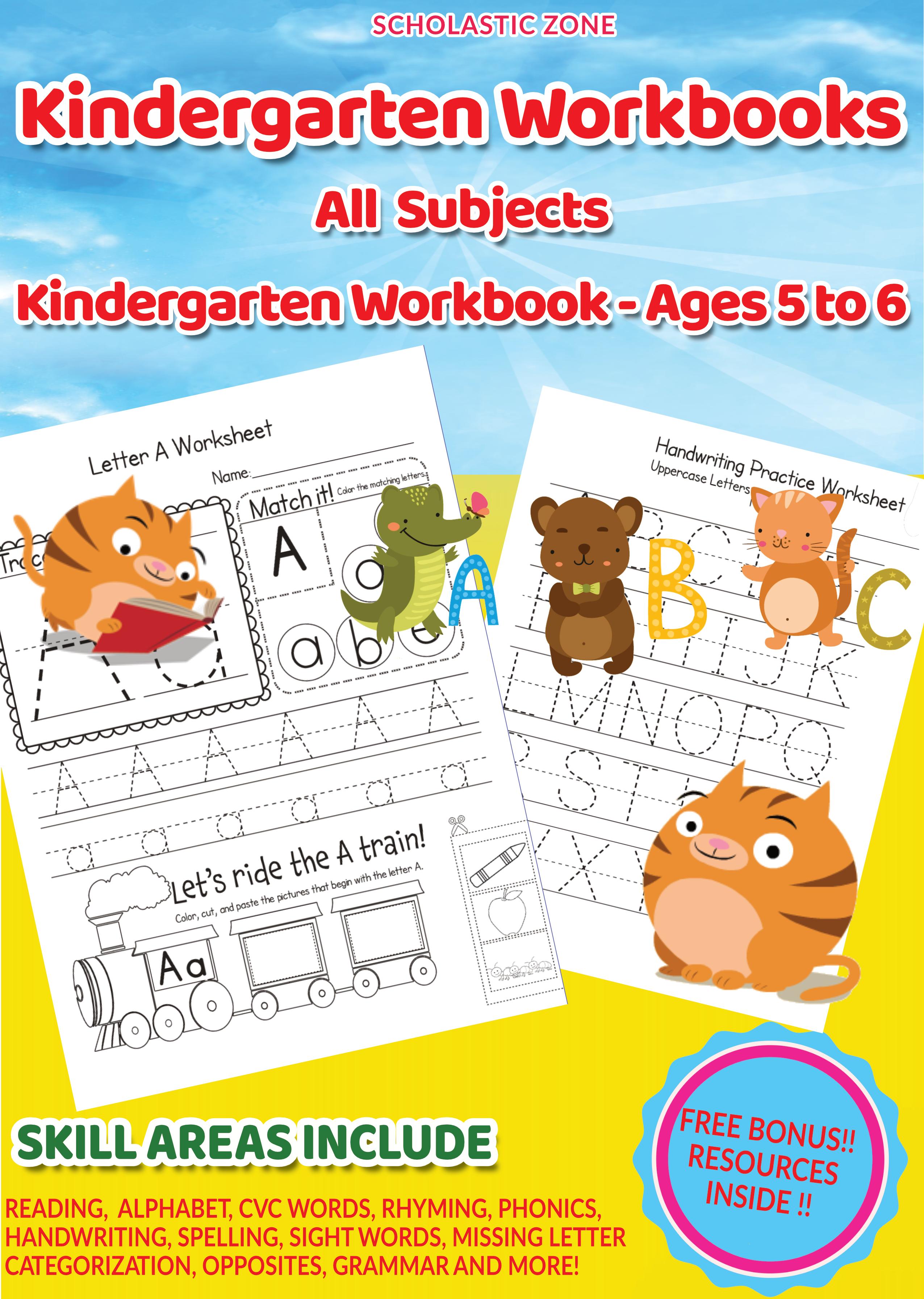 Pin On Kindergarten Workbooks All Subjects