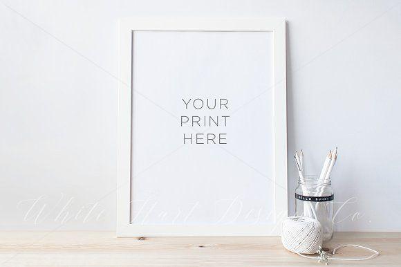 White frame mock up - PSD+Jpeg by White Hart Design Co. on ...